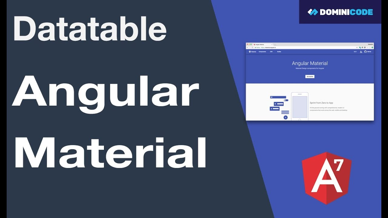 Angular Material Table Responsive Example