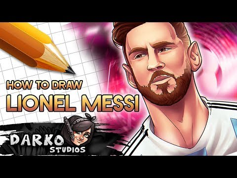How to Draw Lionel Messi Easy - Drawing Cartoon Portraits EASY Like a PRO!