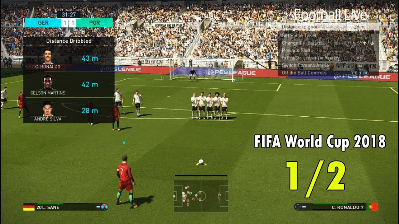 PES 2018 | FIFA World Cup 2018 | GERMANY vs PORTUGAL | C.Ronaldo free kick | Penalty Shootout