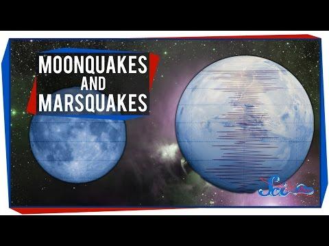 Moonquakes and Marsquakes