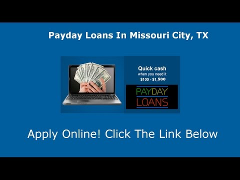 Видео Payday loans in missouri
