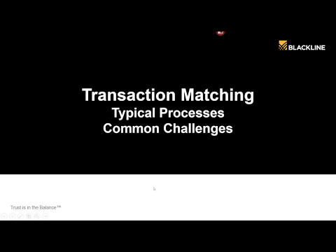 BlackLine - Automating Transaction Matching: A Quick Business Win