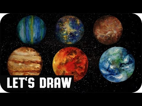 Let's Draw PLANETS (speed painting) ▼ voidea