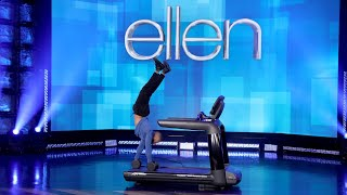 Ellen Welcomes Back Impressively Strong Athlete
