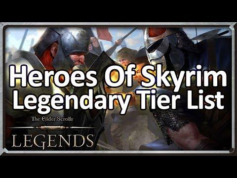 (TES: Legends) Heroes Of Skyrim Legendary Tier List + Crafting Guide