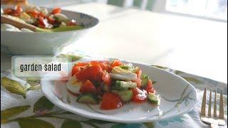 Fresh  garden salad/ свежий овощной салат с яйцами