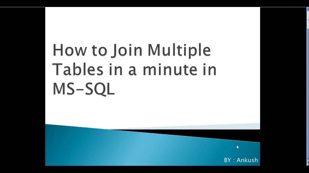How To Join Multiple Tables In Ms Sql Youtube