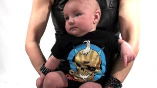 Five Finger Death Punch Onesie video - Punk Rock Baby Clothes