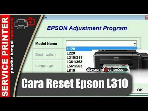 Cara Reset Epson L130 Resetter Epson L310 Adjusment Epson L130