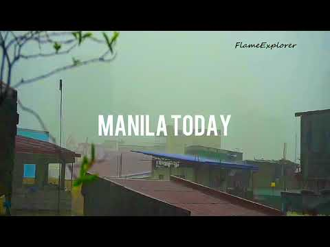 Typhoon Maring arrived in Manila Philippines 🇵🇭