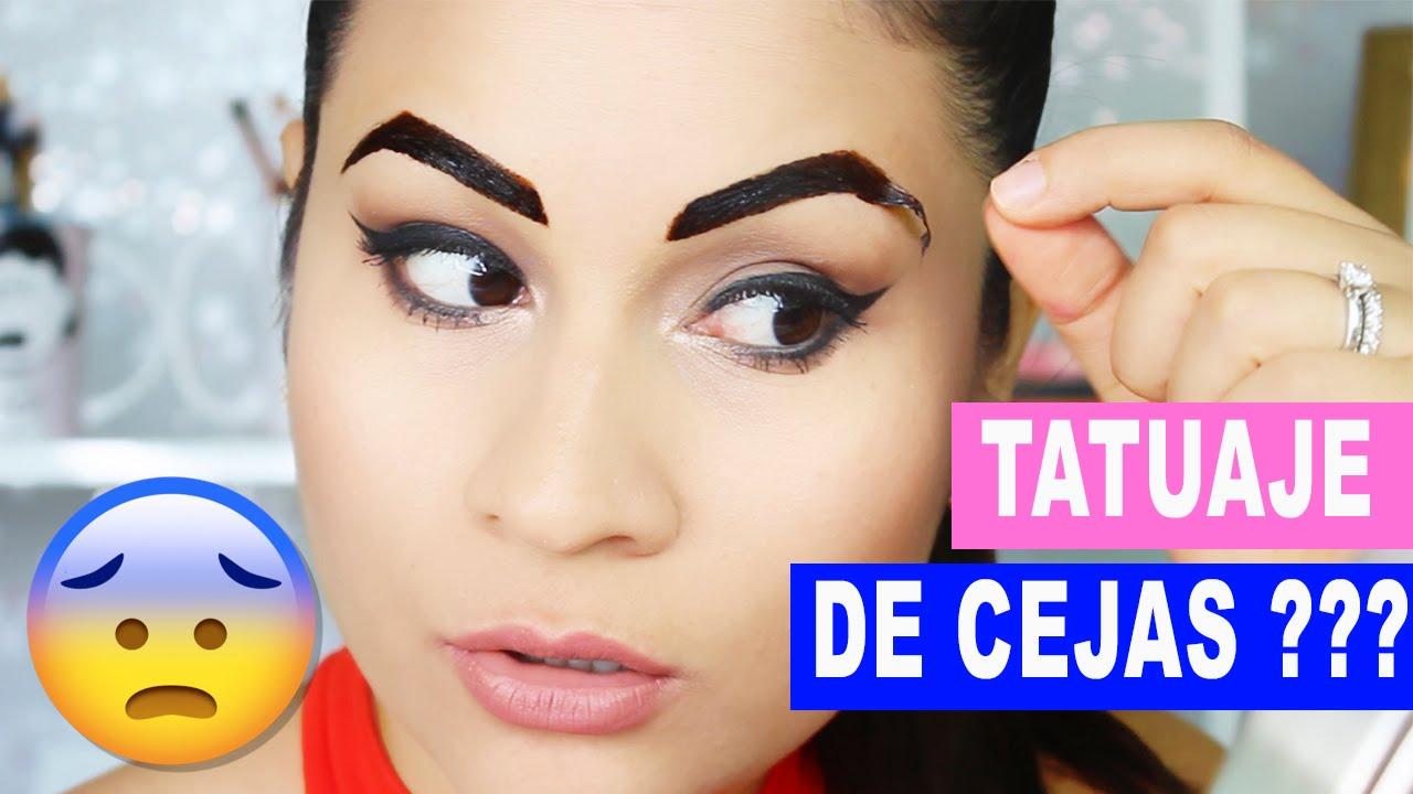 Tatuajes De Cejas En Casa I Cejas Perfectas Sin Sombras Youtube