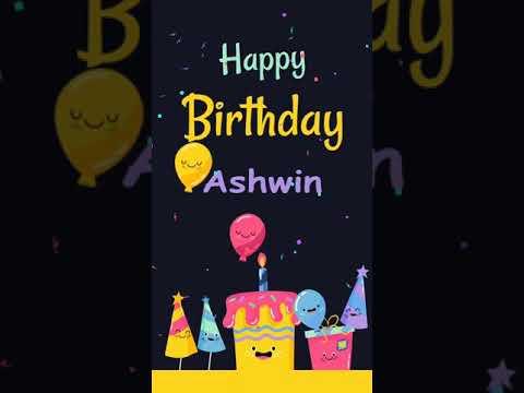 Happy Birthday Ashwin Chella Kutty Youtube