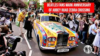 Beatles fans marked the 40th anniversary of Abbey Road zebra crossing