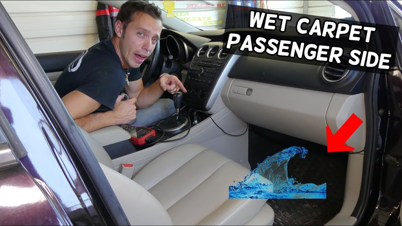 Why Floor Is Wet On Passenger Side Floor Mat Carpet Wet Car Smells Wet Youtube