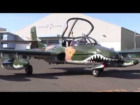 Cessna A-37B Dragonfly jet engine start up very close HD