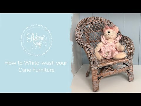 How To White-wash Your Cane Furniture