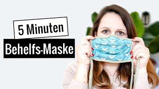 DIY Mundschutz / Atemschutzmaske aus Stoffresten selber nähen - ohne Schnittmuster