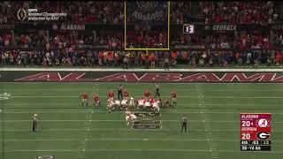 Alabama Kicker Misses Game Winning National Championship Kick | 2018 CFP National Championship