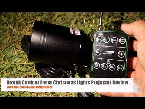 Arotek Outdoor Laser Christmas Lights Projector Review - YouTube