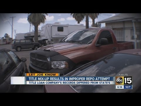 Title mix-up leaves Valley man hiding his truck from repossession for nearly a year