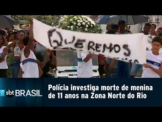 Polícia investiga morte de menina de 11 anos na Zona Norte do Rio | SBT Brasil (15/02/19)
