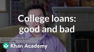 Benefits and drawbacks of college loans