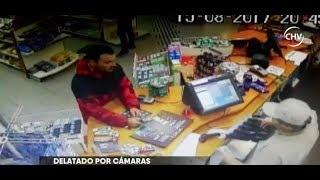Solitario maleante asaltó servicentro en Providencia   - CHV NOTICIAS