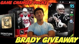 SIGNATURE PULLS AND PACKS! ULTIMATE 94 OVR TOM BRADY GIVEAWAY! MADDEN 17 ULTIMATE TEAM PACK OPENING