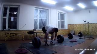 Тяжелая атлетика - взятие на грудь 130кг на раз