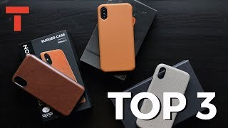 TOP 3 iPhone X Leather Cases
