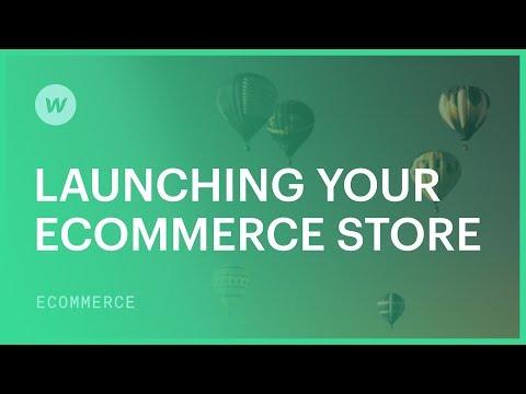 Launching your Webflow Ecommerce store — Webflow tutorial