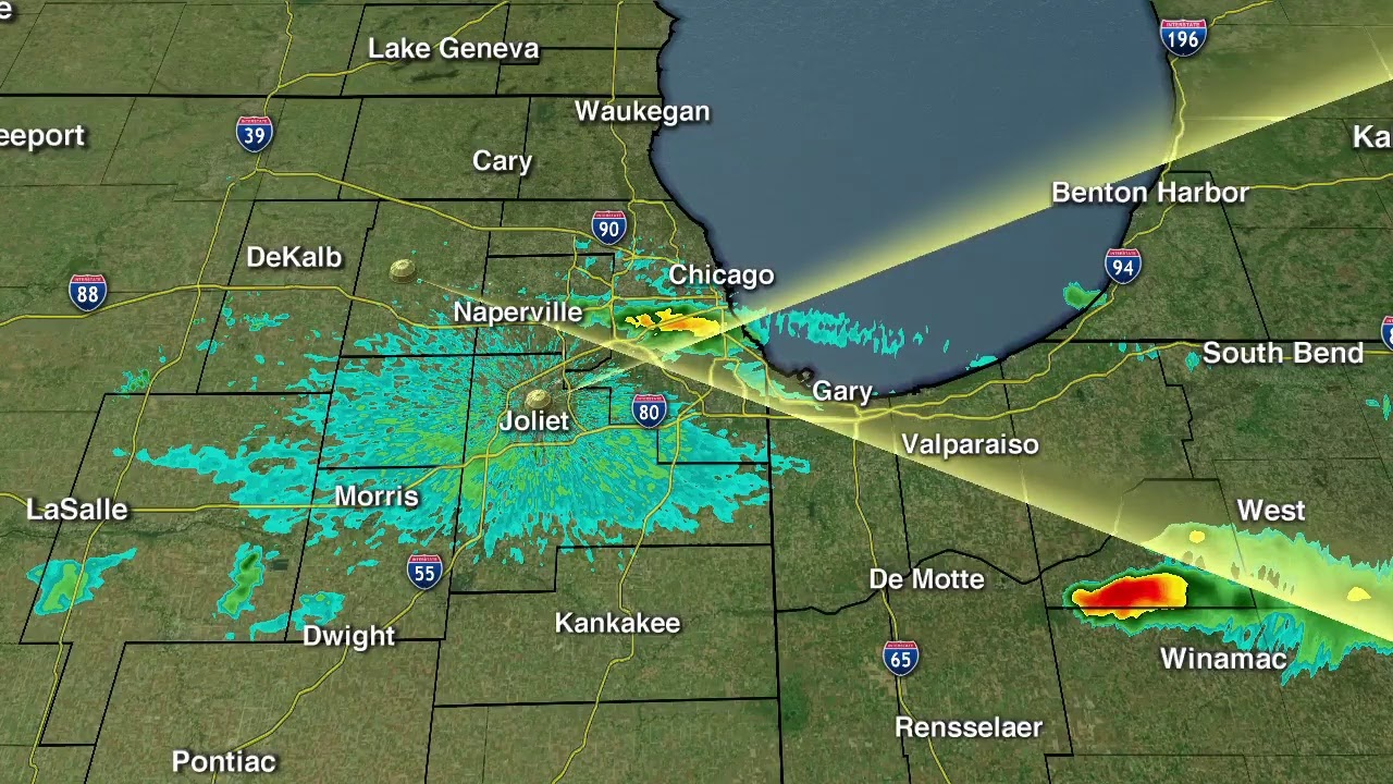 Severe Thunderstorm Warning Issued for Chicago-Area Counties