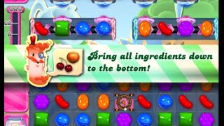 Candy Crush Saga Level 1606 walkthrough (no boosters)