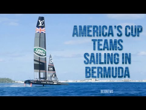 Americas Cup Teams Sailing In Bermuda, 2017