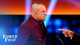 Chuck Liddell and Brie Bella duke it out! | Celebrity Family Feud