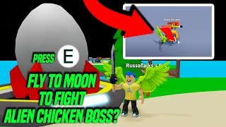 DEFEATING THE ALIEN CHICKEN BOSS IN EGG FARM SIMULATOR! (Roblox)