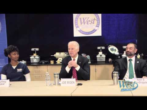 Vice President Joe Biden Visits West Los Angeles College