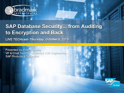 SAP Database Security - from Auditing to Encryption and Back featuring Peter Thawley