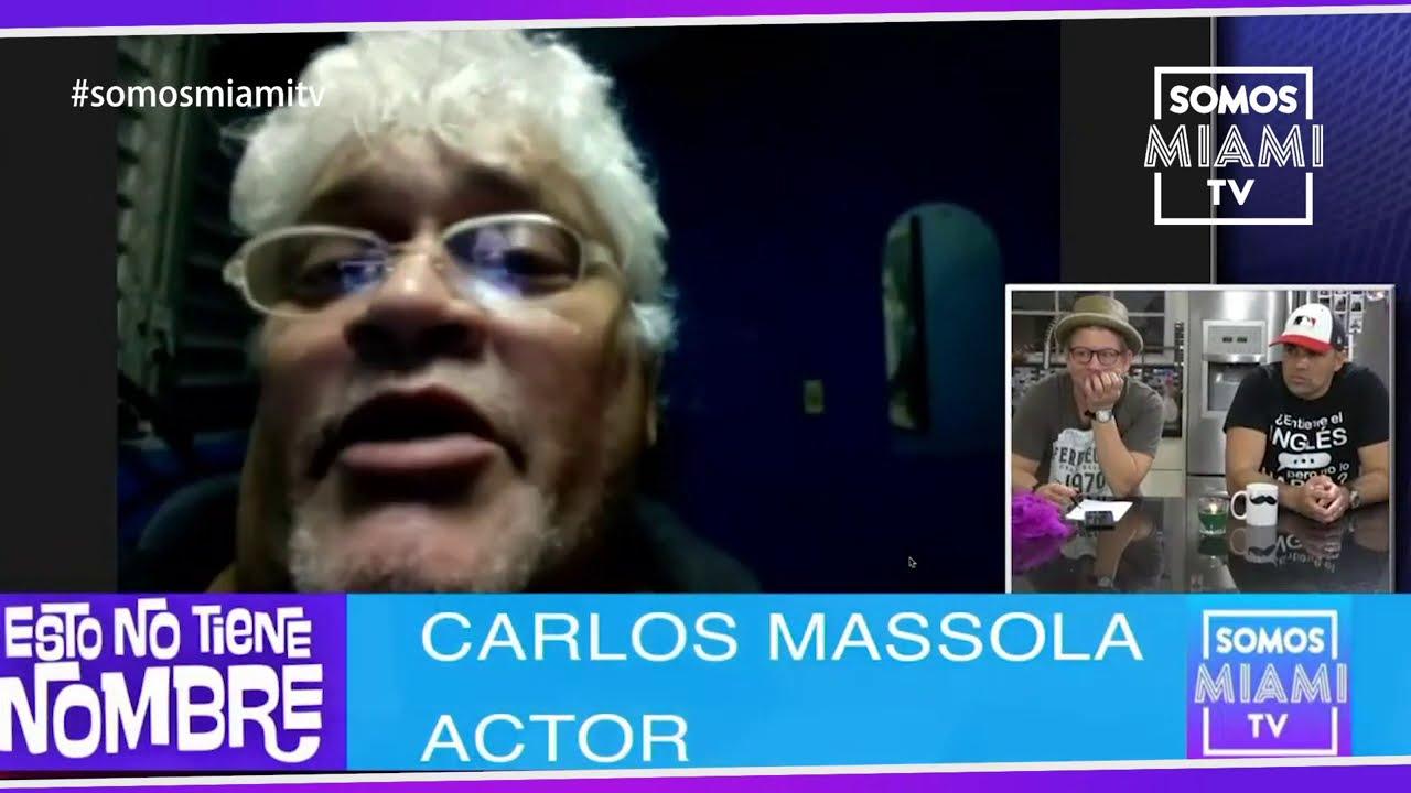 """El actor cubano Carlos Massola """"No hay comida, todo es mentira, este país se jodió"""""""