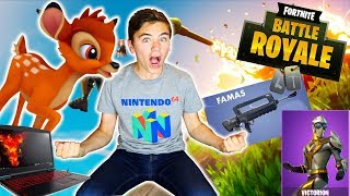 LE RETOUR DU BAMBI ! MA 1ERE VIDEO FORTNITE SUR PC - Néo The One