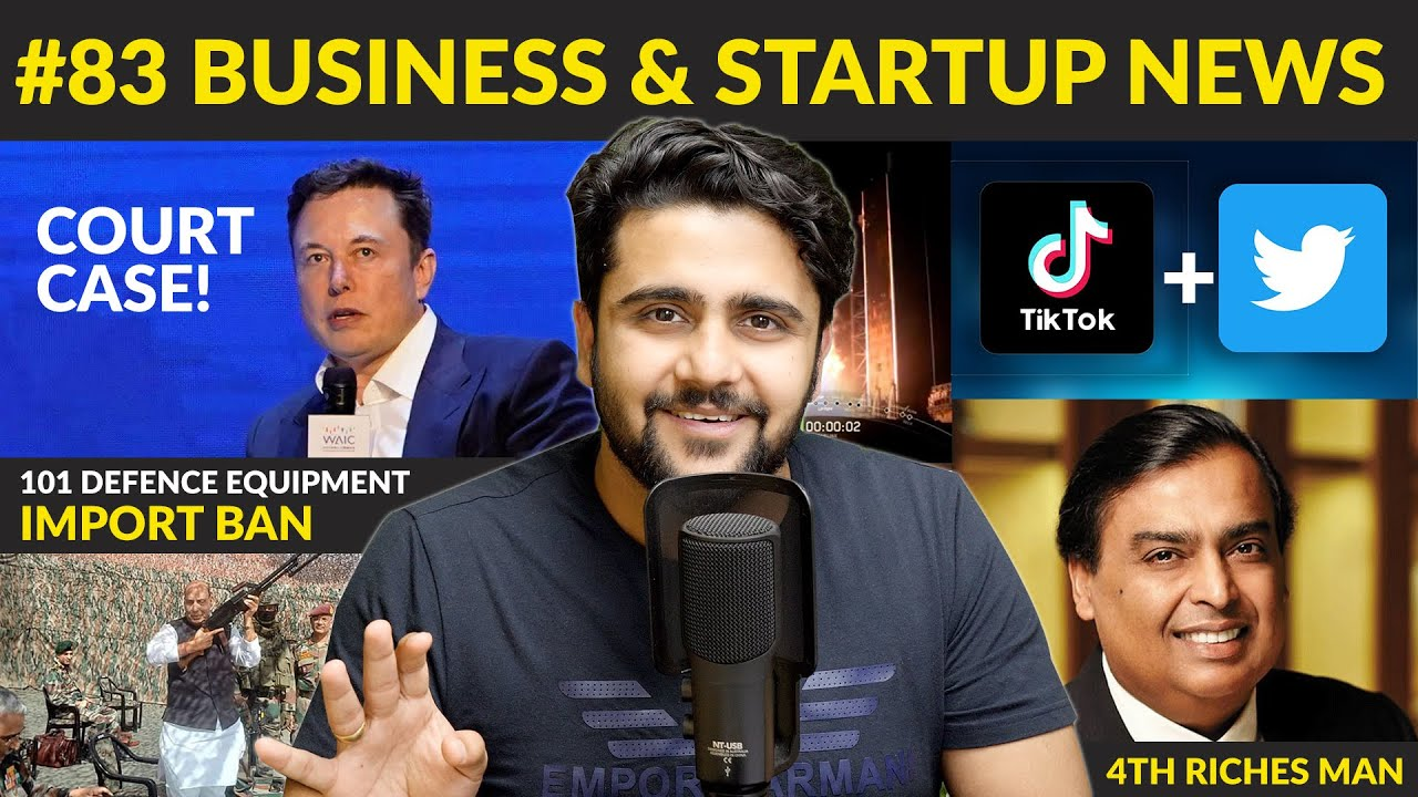 Business news #83 | Case on Elon Musk,Twitter-Tiktok Merger,Google to acquire Policybazaar,Defence