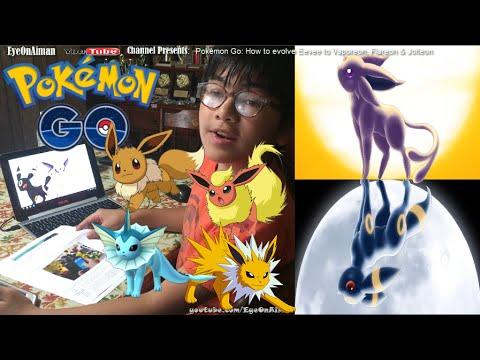 How To Evolve Eevee Into Vaporeon Flareon Jolteon +  Espeon & Umbreon - Pokémon GO Tips & Cheat