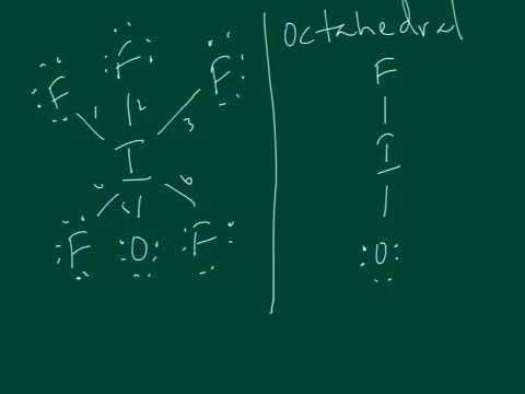 IOF5 VSEPR diagram - YouTube  IOF5 VSEPR diag...