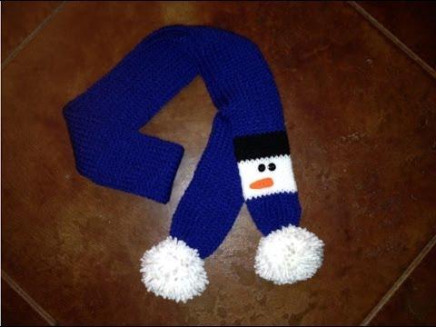 Tutorial Snowman Scarf For Addi Express Crochet Knit Or Loom Knit