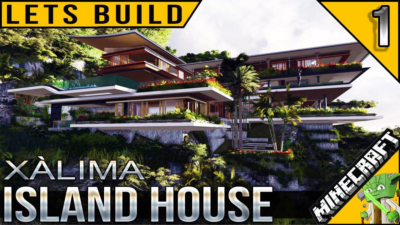 Minecraft Island House Lets Build E01 YouTube