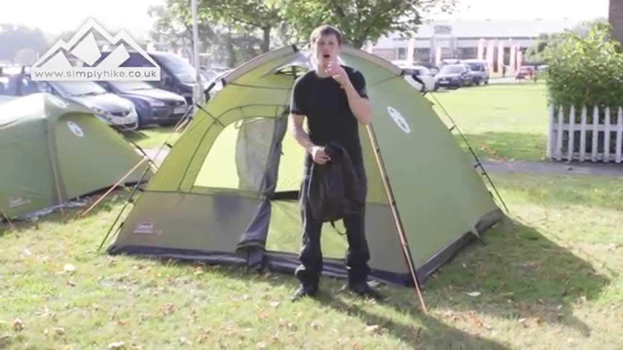 Coleman Instant Dome 5 Tent - .simplyhike.co.uk & Coleman Instant Dome 5 Tent - www.simplyhike.co.uk - YouTube