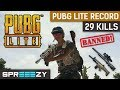 PUBG Lite 29 KILLS | New Record | How to get BANNED | 1 Man Squad
