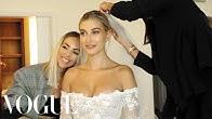 Inside Hailey Bieber's Wedding Dress Fitting | Vogue