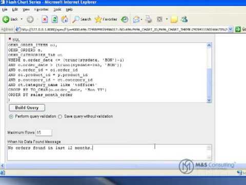 Oracle APEX Tutorial 7 - Bar Charts - Video Walkthough
