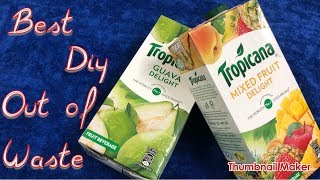 best out of waste from juice tetra pack || best diy || princess choice
